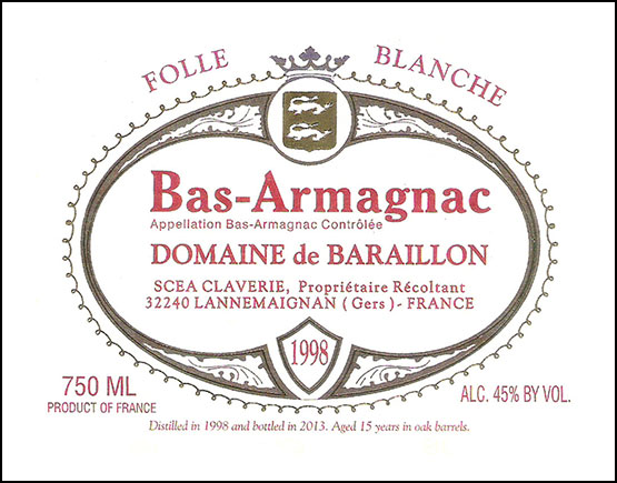 Armagnac-Claverie-label