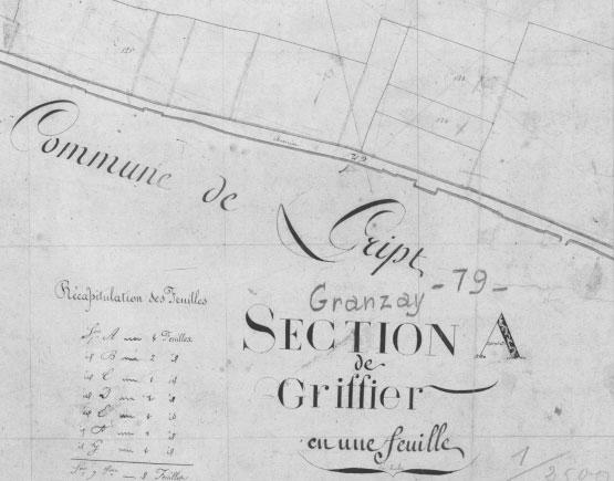 map Clos de Griffier