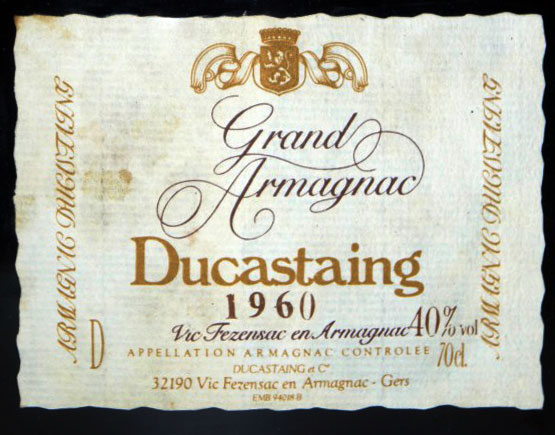 Old-Liqours-Armagnac-Ducastaing-label