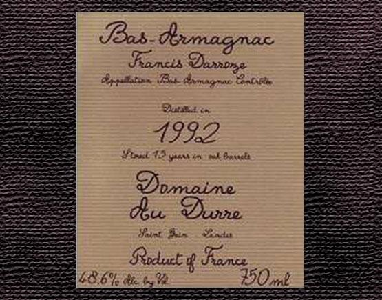 Old-Liqours-Armagnac-Durre-label