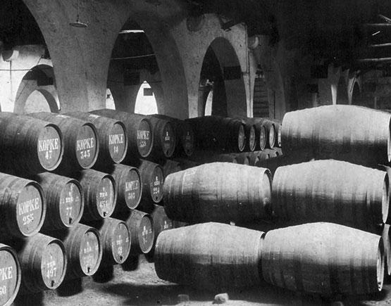 kopke barrels old cellar