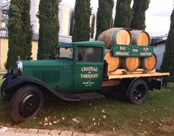 Armagnac-chateau-du-Tariquet-voiture