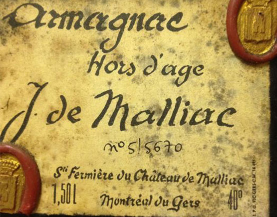 Armagnac-De-Malliac-label