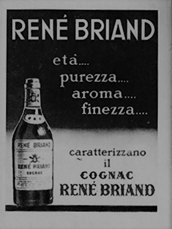 Italian Advertisement Cognac Rene Briand