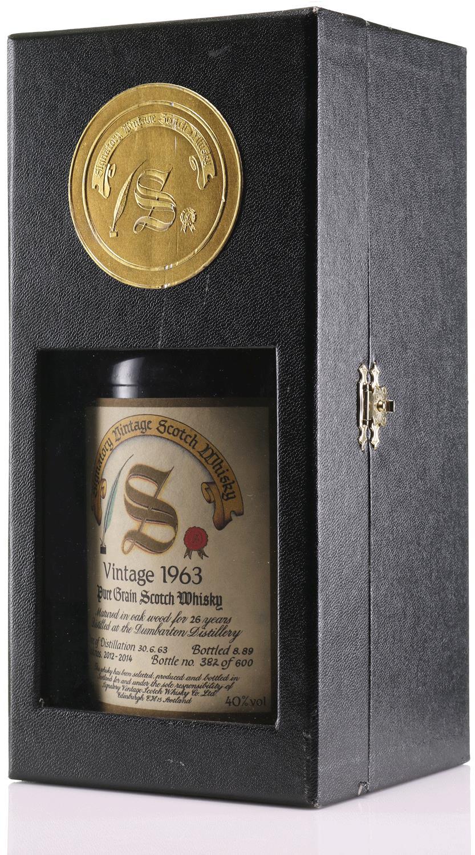 Whisky 1963 Dumbarton Signatory