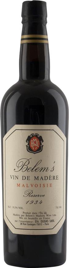 Madeira 1934 Belem's, Malvoisie (3243)