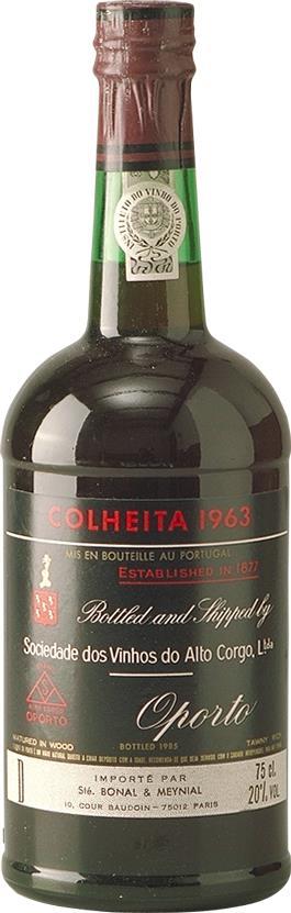 Port 1963 Sociedade dos Vinhos do Alto Corgo