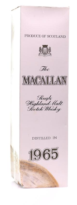 Whisky Macallan - Single Highland Malt - 1965 17 year old