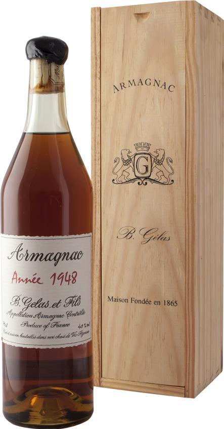 Armagnac 1948 Gelas & Fils B.
