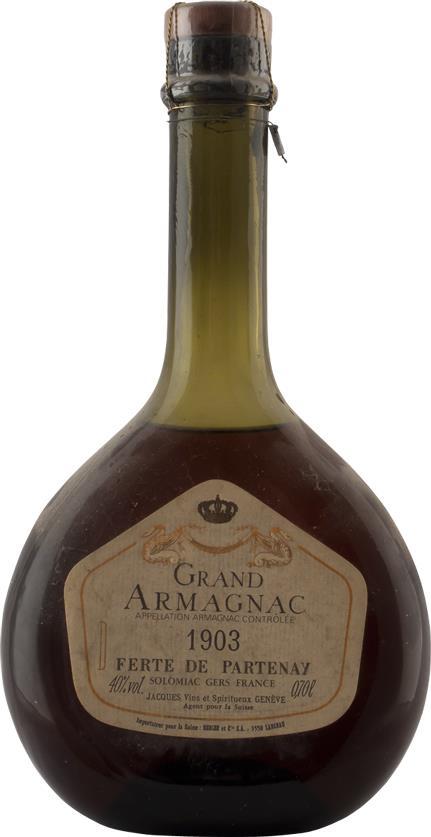 Armagnac 1903 Ferte de Partenay