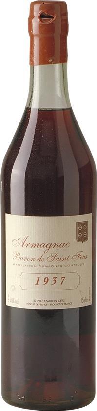 Armagnac 1937 Baron de Saint-Feux (3669)