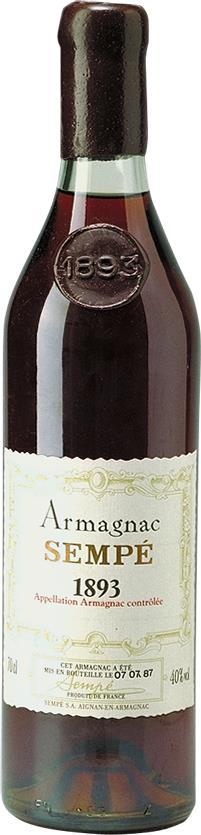 Armagnac 1893 Sempé (3742)