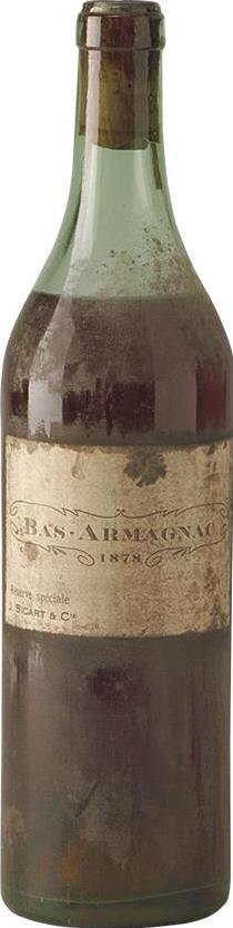 Armagnac 1878 Sicart & Cie J. (1264)
