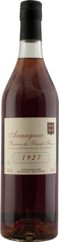 Armagnac 1927 Baron de Saint-Feux (3777)