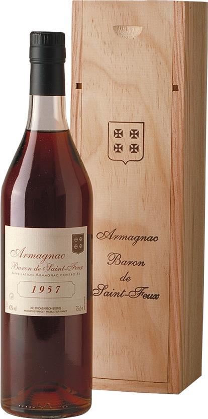Armagnac 1957 Baron de Saint-Feux (3800)