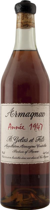Armagnac 1947 Gelas & Fils B. (3819)