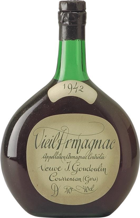 Armagnac 1942 Goudoulin Veuve J. (4081)