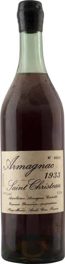 Armagnac 1933 Saint Christeau (4245)