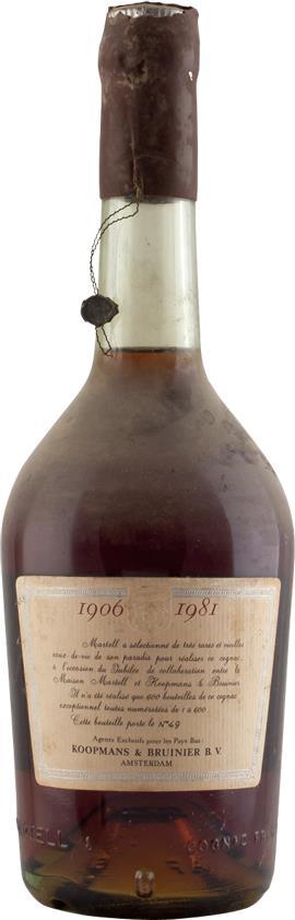 Cognac Martell - Koopmans & Bruinier - Jubilee 1906-1981 Réserve Spécial