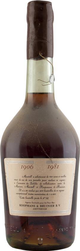 Cognac Martell Réserve spéciale, Jubilée 1906-1981