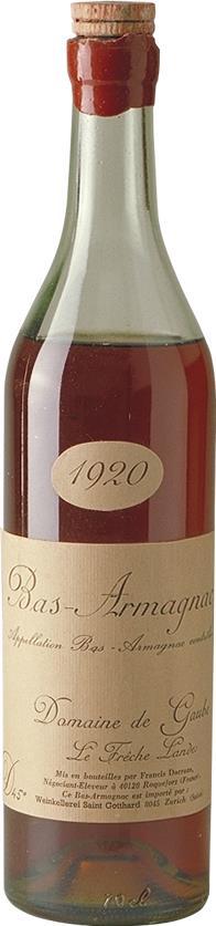 Armagnac 1920 Domaine de Gaube (4597)