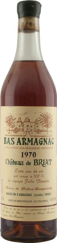 Armagnac 1970 Château de Briat (4600)