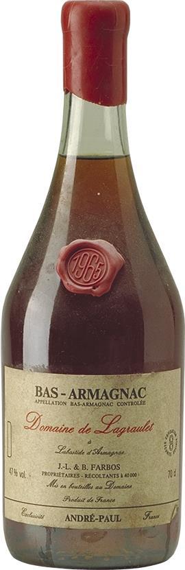 Armagnac 1965 Domaine de Lagraulet (4613)
