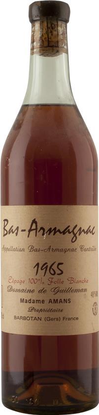 Armagnac 1965 Domaine de Guilleman (4631)