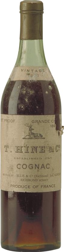 Cognac 1896 Hine Grand Champagne Jarnac aged (4720)