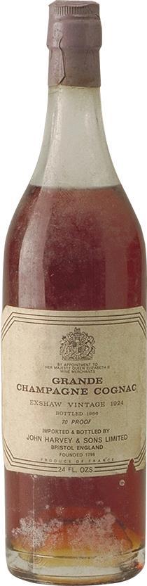 Cognac 1924 John Exshaw Grande Champagne (4780)