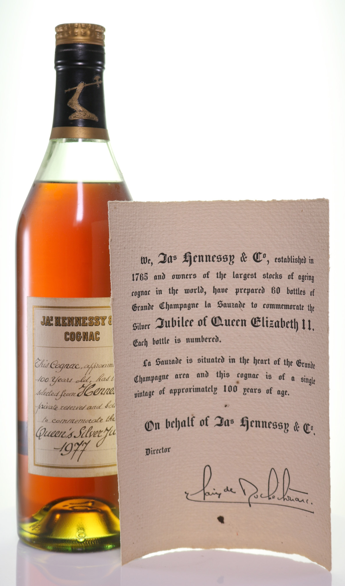 Cognac Hennessy Silver Jubilee 100 Year Old