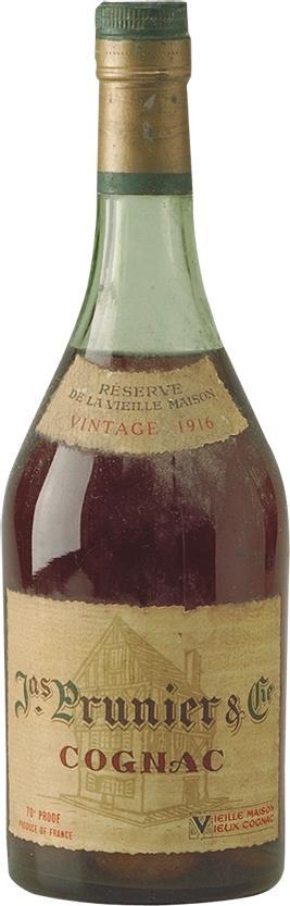 Cognac 1916 Prunier & Co J. (4800)