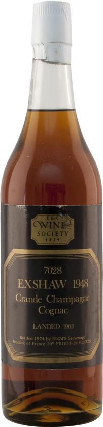 Cognac 1948 John Exshaw Grande Champagne (4855)