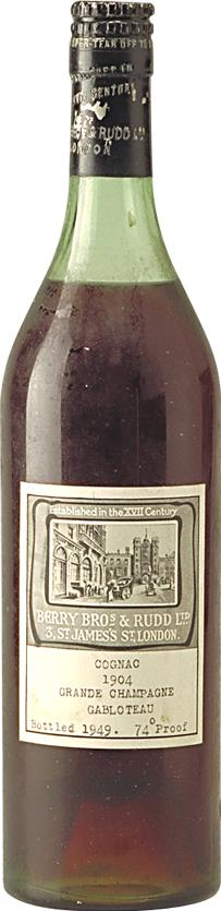 Cognac 1904 Berry Brothers & Rudd Les Gabloteau (4922)