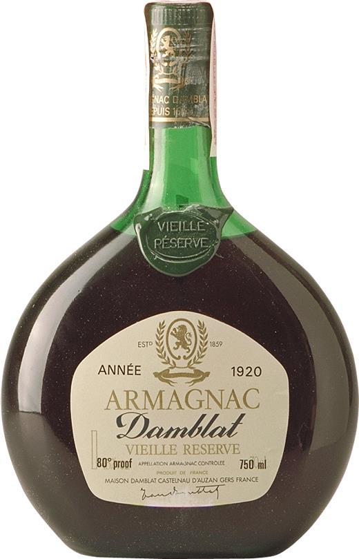 Armagnac 1920 Damblat (4928)