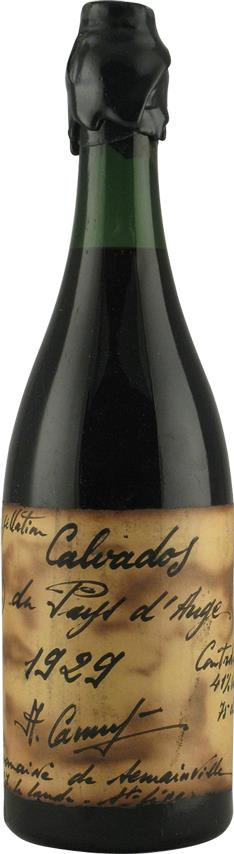Calvados 1929 Camut, Handwritten label (20171)