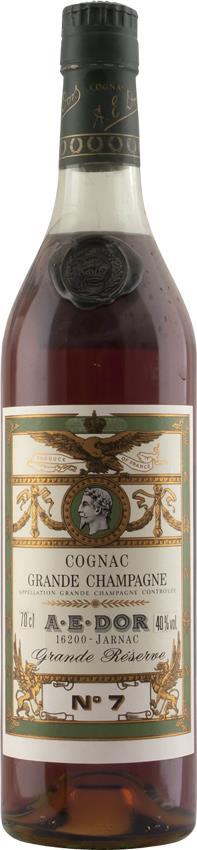 Cognac A.E. DOR No. 7 Grande Réserve 40YO  1970's (5142)
