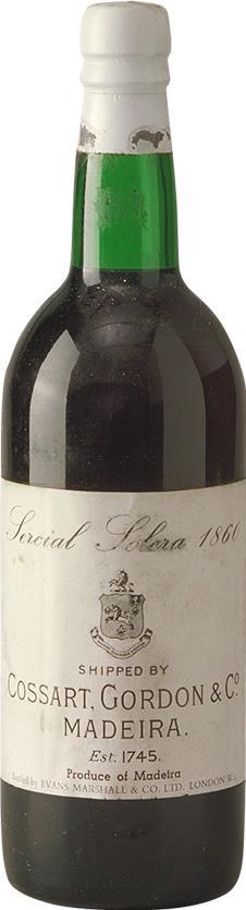 Madeira 1860 Cossart Gordon & Co Sercial Solera (5578)