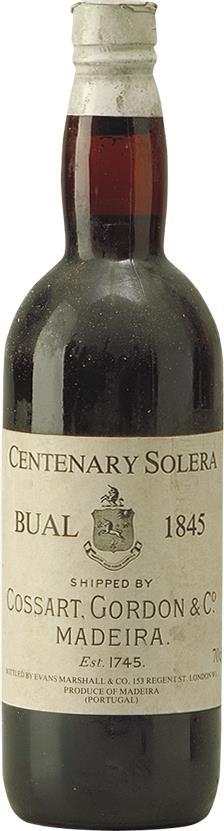 Madeira 1845 Cossart Gordon & Co Centerary Bual Solera (6042)