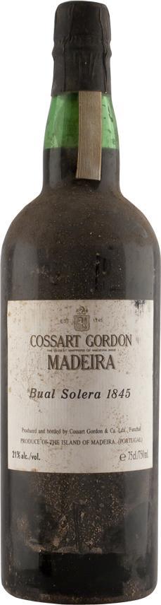 Madeira 1845 Cossart Gordon & Co Centerary Bual Solera (6044)