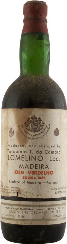 Madeira 1865 Lomelino Solera Verdelho (6344)