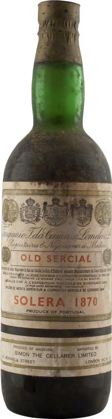 Madeira 1870 Tarquinia  Sercial Solera (6351)