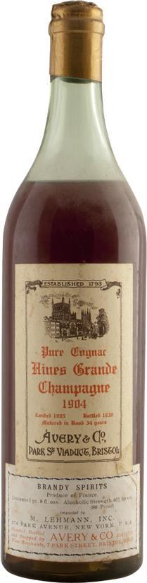 Cognac 1904 Hine & Co T. (6569)