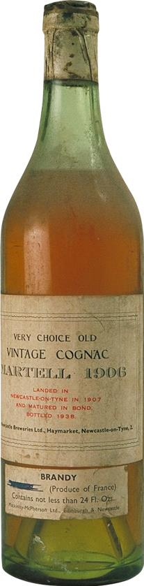 Cognac Vintage 1906 Martell Very Choice Old (6601)