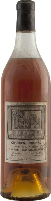 Cognac 1904 Berry Brothers & Rudd Fine Champagne (7075)