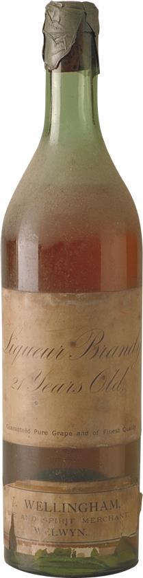Cognac 1898  Wellingham 21 Year Old Liqeur Brandy (7244)
