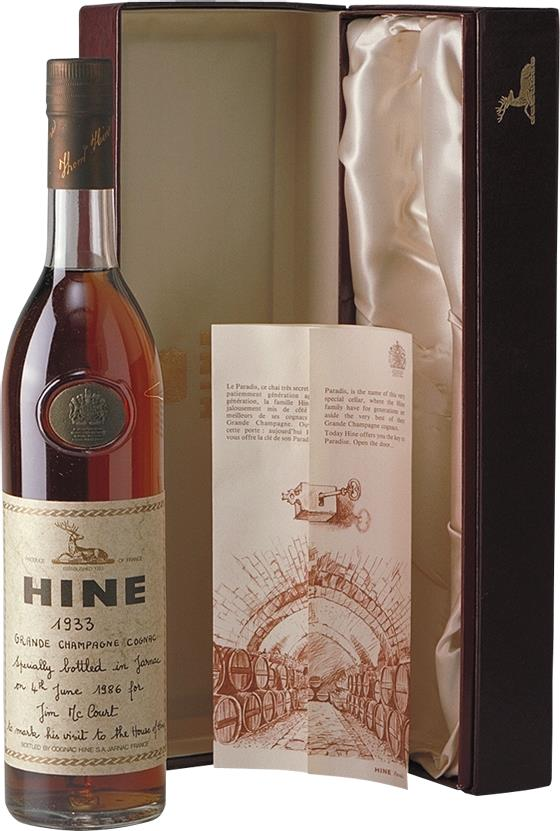 Cognac 1933 Hine Grand Champagne Jarnac aged (7302)