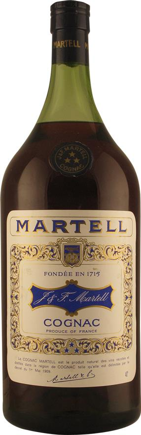 Cognac Martell Three Stars, Pot 2.5L 1970s (7707)