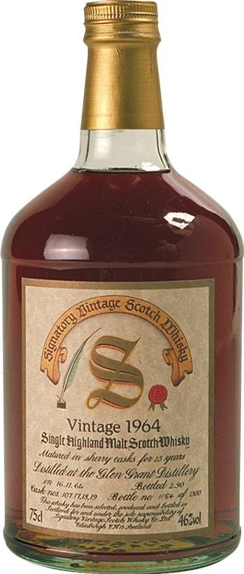 Whisky 1964 Glen Grant Signatory
