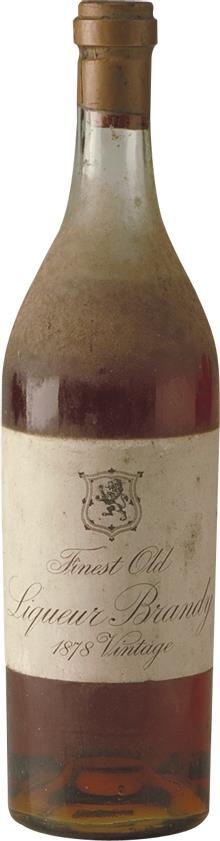 Cognac 1878 Finest Old Liqueur Brandy (1858)